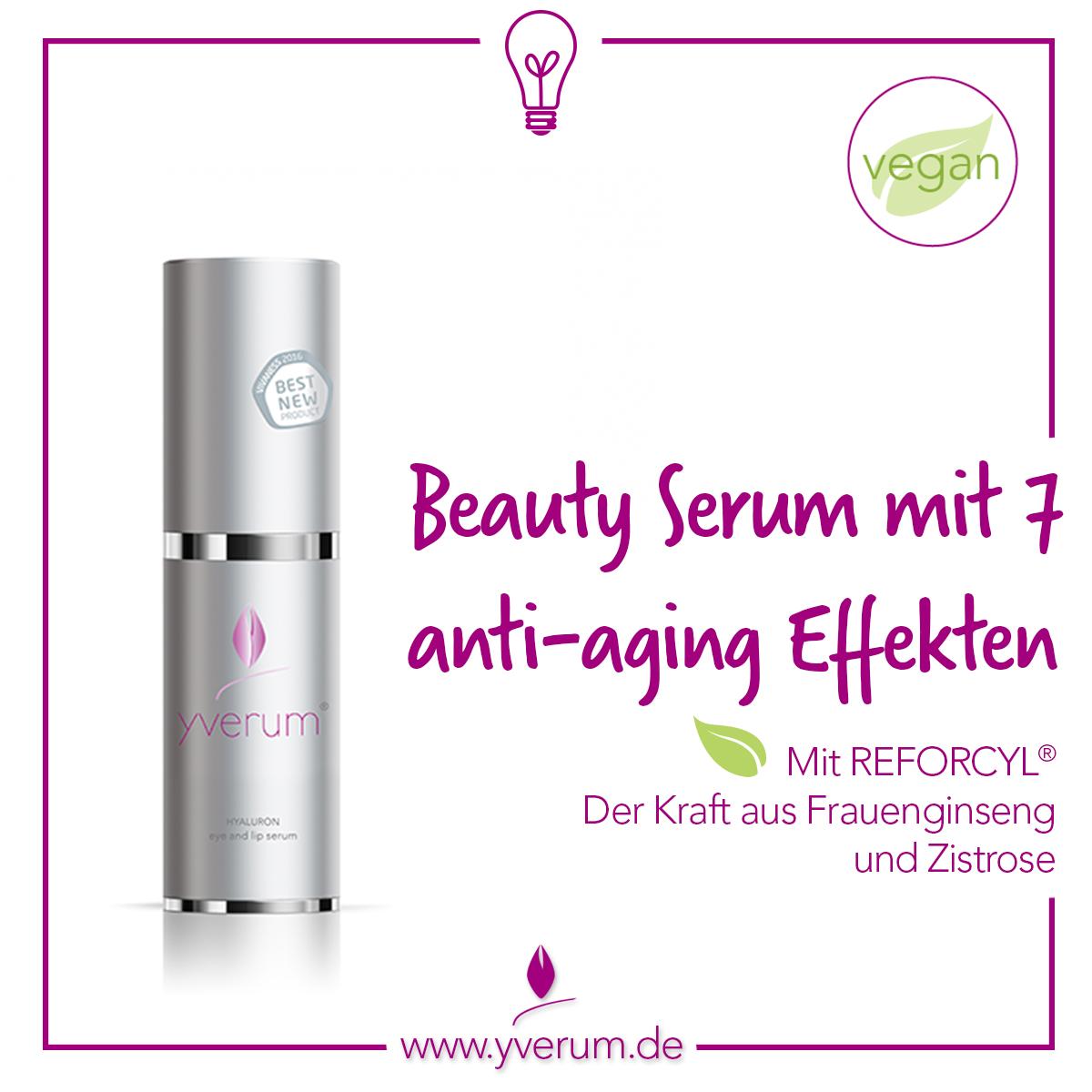 yverum Beauty Serum eye and lip serum mit Hyaluronsäure und Reforcyl